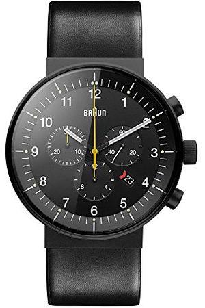 von Braun Męski analogowy zegarek kwarcowy ze skórzanym paskiem BN0095BKG