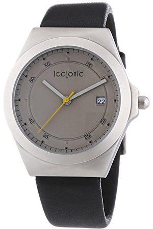 Tectonic Męski zegarek na rękę analogowy kwarcowy skóra 41-6103-84