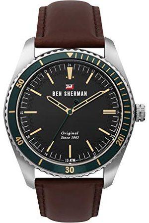 Ben Sherman Męski analogowy zegarek kwarcowy ze skórzanym paskiem WBS114NT