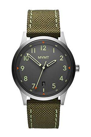 MVMT Męski analogowy zegarek kwarcowy z paskiem płóciennym 2800014-D