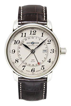 Zeppelin Zegarek męski analogowy kwarcowy ze skórzanym paskiem – 76425