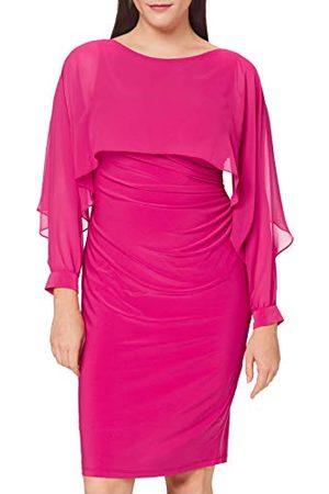 Gina Bacconi Damska sukienka koktajlowa Olma z dżerseju i szyfonu