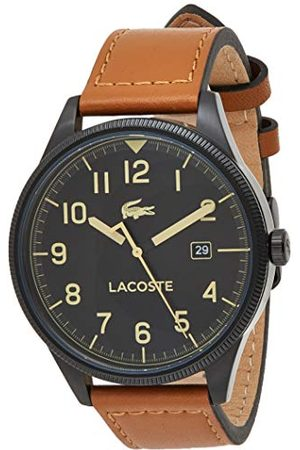 Lacoste Męski analogowy klasyczny zegarek kwarcowy ze skórzanym paskiem 2011021