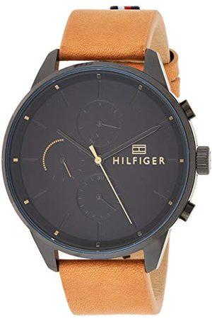 Tommy Hilfiger Uniseks - dorosły wielofunkcyjny zegarek kwarcowy ze skórzanym paskiem 1791486