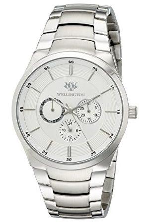 Daniel Wellington Męski zegarek kwarcowy ze srebrnym wyświetlaczem analogowym i srebrną bransoletką ze stali nierdzewnej WN601-111