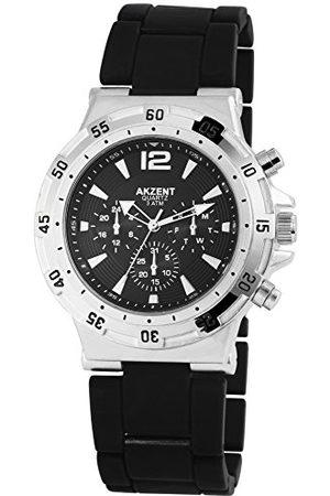 Akzent Męski analogowy zegarek kwarcowy z bransoletką Alloy SS882100014