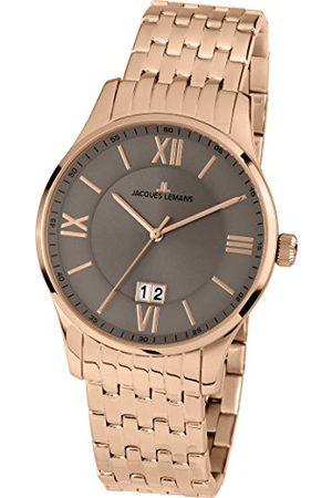 Jacques Lemans Męski analogowy zegarek kwarcowy Smart Watch z powłoką ze stali szlachetnej pasek 1-1845M