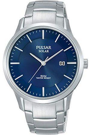 Pulsar Solarny zegarek męski ze stali nierdzewnej z metalowym paskiem PX3159X1