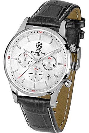Jacques Lemans Męski zegarek na rękę UEFA CL analogowy kwarcowy skóra U-58B