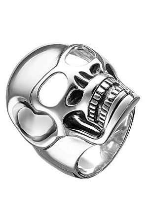 "Thomas Sabo Męski pierścionek Rebel at Heart ""trupia czaszka"" srebro 925 rozmiar 54 (17.2) - TR1704-001-12-54"
