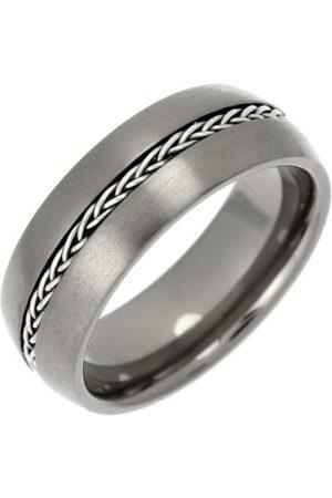 THEIA Tytanowa i srebrna wkładka sąd matowy łańcuszek 8 mm pierścień e Tytan, W, colore: Metaliczny, cod. TIR1356-8/W
