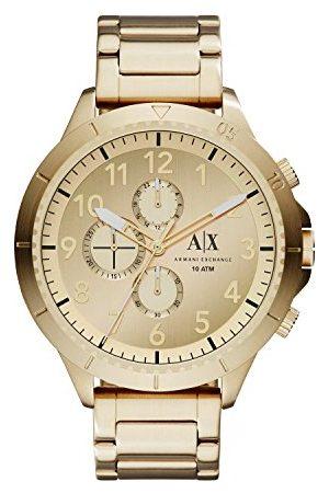 Armani Męski zegarek ze stali nierdzewnej w złotym odcieniu