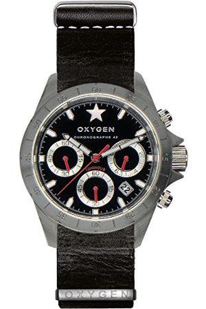 Oxygen Zegarek na rękę unisex SPRINT 42 chronograf kwarcowy skóra EX-C-SPR-42-NL-BL