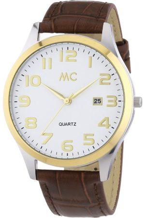 MC Męski zegarek na rękę analogowy kwarcowy skóra 27672