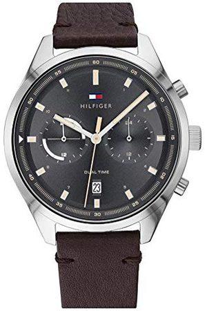 Tommy Hilfiger Męski analogowy zegarek kwarcowy ze skórzanym paskiem 1791729