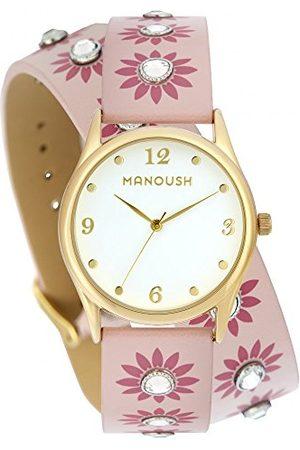 Manoush Unisex-dorosły analogowy klasyczny zegarek kwarcowy z paskiem PU MSHDI04