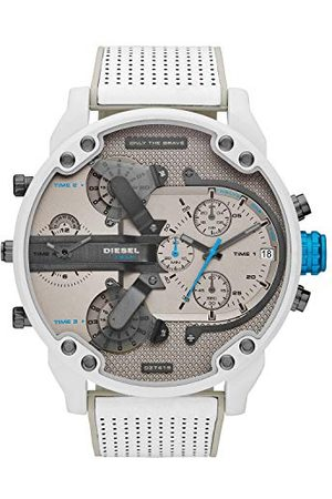Diesel Męski analogowy zegarek kwarcowy ze skórzanym paskiem DZ7419