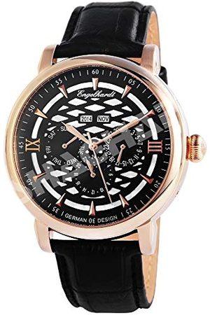 Engelhardt Męski analogowy zegarek mechaniczny ze skórzanym paskiem 388531029004