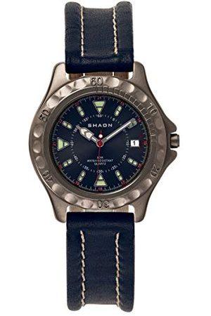 Shaon Męski analogowy zegarek kwarcowy ze skórzanym paskiem 22-6102-99