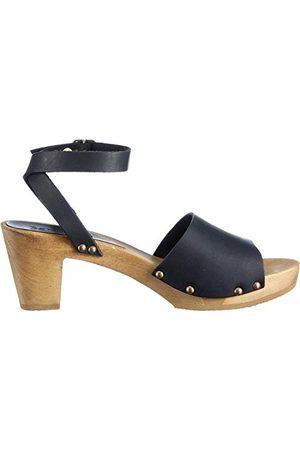 Sanita Wood-Yara Flex damskie sandały, - Schwarz Black 2-40 EU