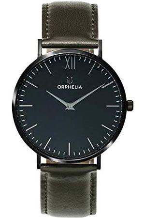ORPHELIA Męski zegarek analogowy Blackline ze skórzanym paskiem pasek
