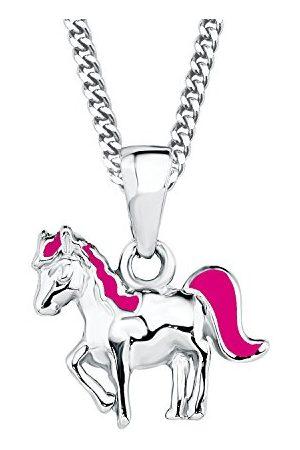 Prinzessin Lillifee Łańcuszek z wisiorkiem w kształcie konia dla dziewcząt, emalia i srebro wysokiej próby 925, rodowany