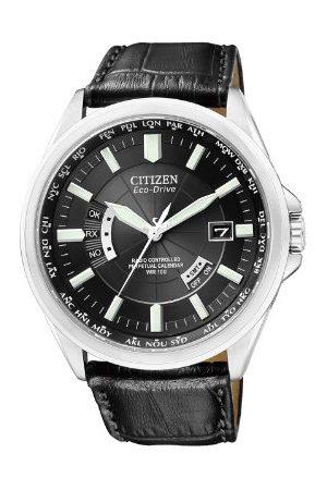 Citizen Męski analogowy kwarcowy zegarek ze skórzanym paskiem CB0010-02E