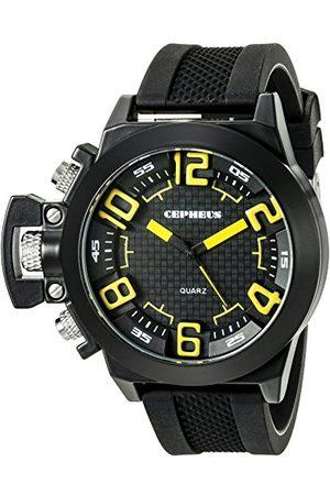 CEPHEUS Męski zegarek na rękę XL analogowy kwarcowy silikon CP901-622C