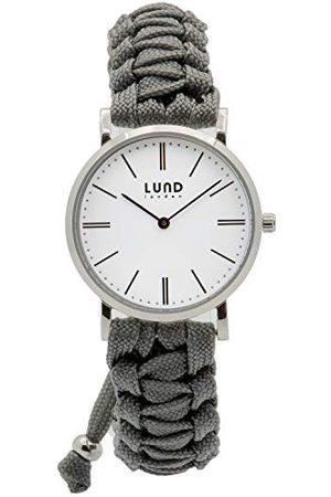 Lund London Lund Londyn unisex analogowy klasyczny zegarek kwarcowy dla dorosłych z paskiem tekstylnym 9002