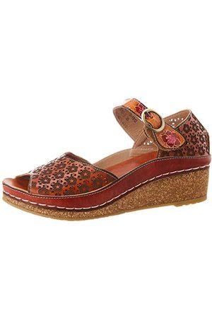 LAURA VITA Facscineo 03 Peeptoe sandały dziewczęce, - Braun Camel Camel - 35 EU