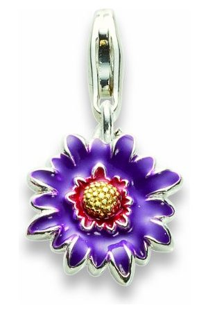 Alraune Uniseks charms kwiatki liliowe srebro 102709