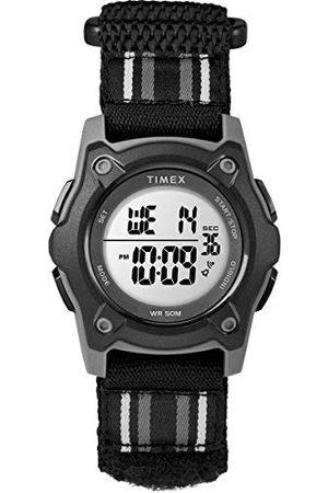 Timex Unisex dziecięcy zegarek cyfrowy z paskiem tekstylnym TW7C26400