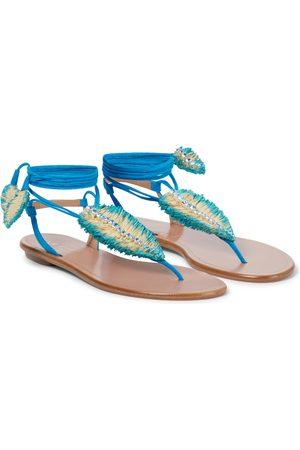 Aquazzura Isla embellished leather sandals