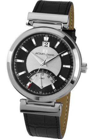 Jacques Lemans Classic męski zegarek na rękę XL Verona analogowy skóra 1-1697A