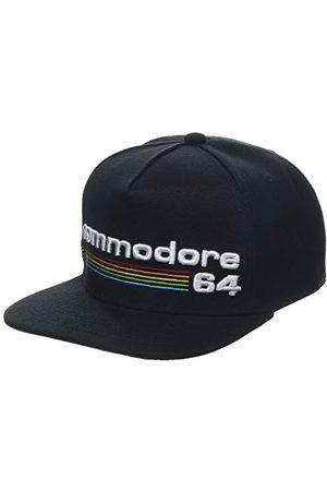 Difuzed Commodore 64 haftowana czapka baseballowa z logo w całej tęczy, (SB108477C64), czarna (czarna czarna), jedna (rozmiar: jeden rozmiar)