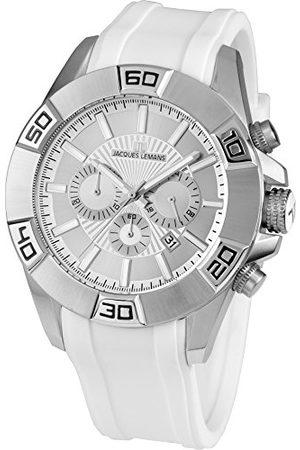 Jacques Lemans Męski analogowy zegarek kwarcowy Smart Watch z silikonową bransoletką 1-1808B