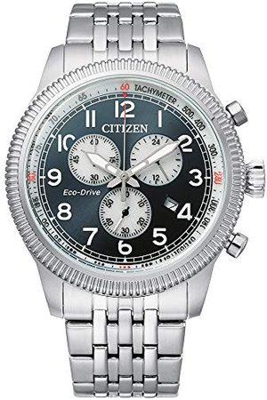 Citizen Męski analogowy zegarek Eco-Drive z bransoletką ze stali szlachetnej AT2460-89L