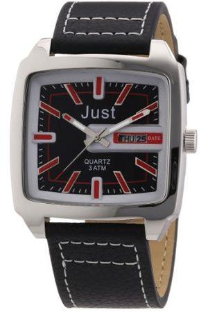Just Watches Męski zegarek na rękę analogowy kwarcowy skóra 48-S3726-RD