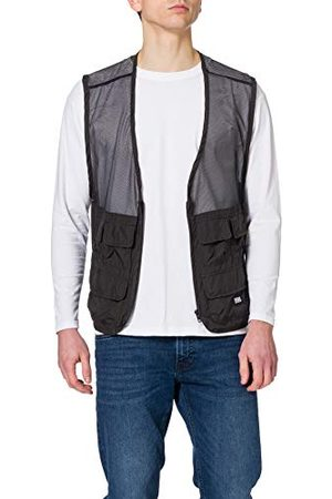 Urban classics Męska kamizelka Light Pocket Vest, lekka kamizelka wędkarska dla mężczyzn z krótką częścią tylną z siatki i naszytymi kieszeniami, rozmiary S - XXL
