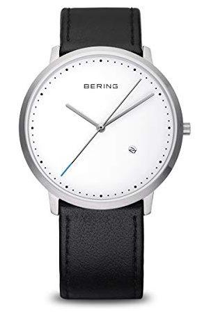 Bering Zegarek na rękę unisex analogowy kwarcowy skóra 1139-404