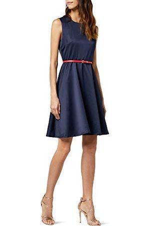 Intimuse Kobieta Sukienki koktajlowe i wieczorowe - Damska sukienka koktajlowa bez rękawów, niebieska (Navy 018), 44