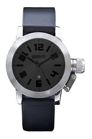 666Barcelona Męski analogowy zegarek kwarcowy z gumową bransoletką 66-210