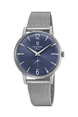Festina Męski analogowy klasyczny kwarcowy połączony zegarek na rękę z paskiem ze stali nierdzewnej F20252/3