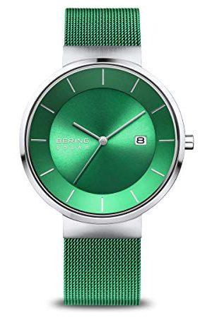 Bering Męski analogowy zegarek solarny z bransoletką ze stali szlachetnej 14639-Charity