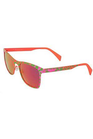 Italia Independent Unisex dla dorosłych 0024-055-018 okulary przeciwsłoneczne, zielone (Verde), 53.0