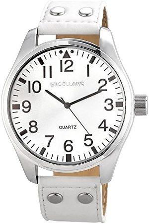 Excellanc Męski zegarek na rękę XL analogowy kwarcowy sztuczna skóra 295022100146