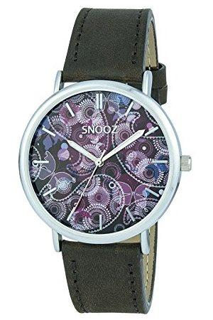 Snooz Saa1041-79 męski analogowy zegarek kwarcowy ze skórzanym paskiem