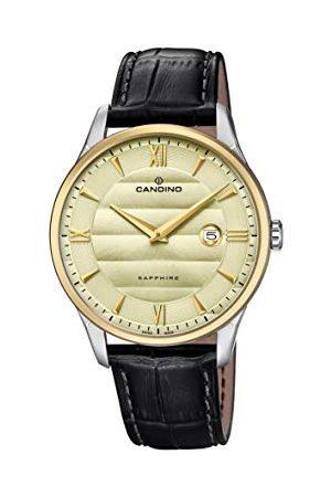 Candino Męski analogowy klasyczny zegarek kwarcowy ze skórzanym paskiem C4640/2
