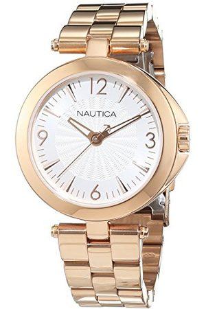 Nautica Męski analogowy zegarek kwarcowy z bransoletką ze stali szlachetnej 6.56086E+11