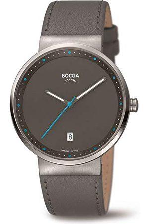 Boccia Analogowy zegarek kwarcowy dla dorosłych unisex ze skórzanym paskiem 3615-03